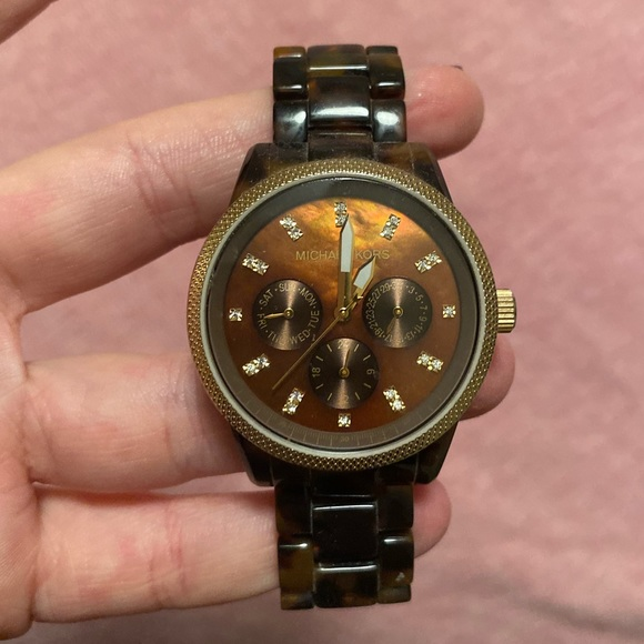 Michael Kors Jewelry - Michael Kors Tortoise Shell Watch